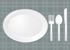 Σύνολο πιάτων Δίκρανο και μαχαίρι κουταλιών Στοκ Εικόνες