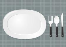 Σύνολο πιάτων Δίκρανο και μαχαίρι κουταλιών Στοκ εικόνες με δικαίωμα ελεύθερης χρήσης