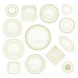 Σύνολο πιάτων Στοκ Εικόνες
