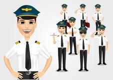 Σύνολο πιλότων Στοκ Εικόνα