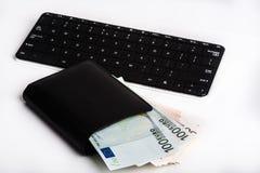 Σύνολο πορτοφολιών του ευρώ και του πληκτρολογίου Στοκ φωτογραφίες με δικαίωμα ελεύθερης χρήσης