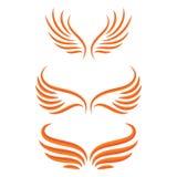 Σύνολο πουλιών φτερών απεικόνιση αποθεμάτων