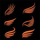 Σύνολο πουλιών φτερών ελεύθερη απεικόνιση δικαιώματος