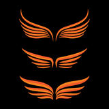 Σύνολο πουλιών φτερών διανυσματική απεικόνιση