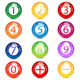 Σύνολο πολυ -πολυ-colord αριθμών για το άσπρο beackground Στοκ φωτογραφία με δικαίωμα ελεύθερης χρήσης