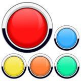 Σύνολο πολύχρωμων στρογγυλών κουμπιών διανυσματική απεικόνιση