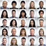 Σύνολο προσώπου ανθρώπων χαμόγελου Στοκ εικόνα με δικαίωμα ελεύθερης χρήσης