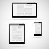 Σύνολο προτύπου υπολογιστών ταμπλετών ελεύθερη απεικόνιση δικαιώματος