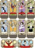Σύνολο προτύπων εισιτηρίων τσίρκων Στοκ εικόνες με δικαίωμα ελεύθερης χρήσης