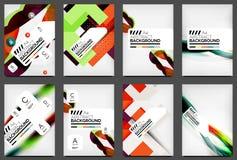 Σύνολο προτύπων ιπτάμενων, σχεδιαγράμματα επιχειρησιακού Ιστού διανυσματική απεικόνιση