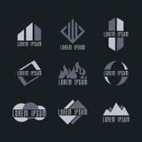 Σύνολο προτύπων λογότυπων επιχειρησιακών εικονιδίων Στοκ φωτογραφία με δικαίωμα ελεύθερης χρήσης
