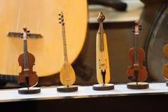 Σύνολο προτύπων των ξύλινων μουσικών οργάνων Στοκ Φωτογραφία