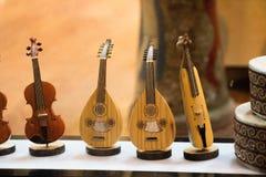Σύνολο προτύπων των ξύλινων μουσικών οργάνων Στοκ Φωτογραφίες