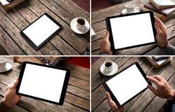Σύνολο προτύπων ψηφιακών εικόνων PC ταμπλετών Στοκ Φωτογραφία