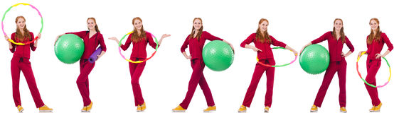 Σύνολο πρότυπων φωτογραφιών στην έννοια υγείας Στοκ Εικόνες