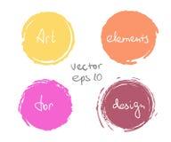 Σύνολο πτώσης χρωμάτων κύκλων απεικόνιση αποθεμάτων
