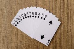 Σύνολο πόκερ καρτών παιχνιδιού Στοκ Εικόνες