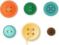 Σύνολο ρεαλιστικών κουμπιών ιματισμού ελεύθερη απεικόνιση δικαιώματος