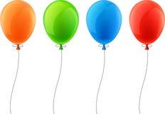 Σύνολο ρεαλιστικών μπαλονιών εορτασμού Στοκ Εικόνες