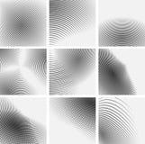 Σύνολο ριγωτών αφηρημένων μορφών Στοκ εικόνα με δικαίωμα ελεύθερης χρήσης