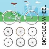 Σύνολο ροδών ποδηλάτων Στοκ Εικόνα