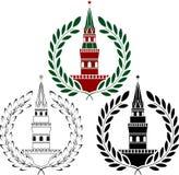 Σύνολο ρωσικών πύργων Στοκ εικόνες με δικαίωμα ελεύθερης χρήσης