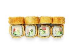 Σύνολο ρόλων σουσιών tempura στο λευκό Στοκ Φωτογραφίες
