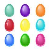 Σύνολο σαφών χρωματισμένων αυγών Πάσχας, επίδραση ζελατίνας Στοκ Εικόνες