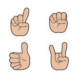 Σύνολο σημάτων χεριών Στοκ Εικόνες