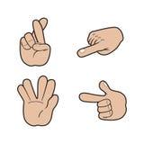 Σύνολο σημάτων χεριών Στοκ Εικόνα