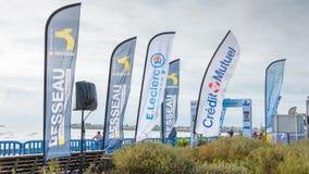 Σύνολο σημαιών διαφήμισης Στοκ Φωτογραφία