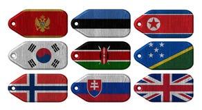 Σύνολο σημαιών Στοκ εικόνες με δικαίωμα ελεύθερης χρήσης
