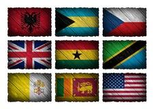 Σύνολο σημαιών Στοκ Εικόνες