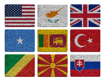 Σύνολο σημαιών Στοκ φωτογραφία με δικαίωμα ελεύθερης χρήσης