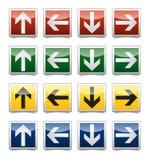 Σύνολο σημαδιών βελών κινδύνου Στοκ φωτογραφία με δικαίωμα ελεύθερης χρήσης