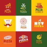 Σύνολο σημαδιών εστιατορίων γρήγορου φαγητού Στοκ φωτογραφία με δικαίωμα ελεύθερης χρήσης