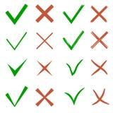 Σύνολο σημαδιών ελέγχου Στοκ εικόνες με δικαίωμα ελεύθερης χρήσης