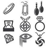 Σύνολο σημαδιών κοσμήματος Στοκ Εικόνες
