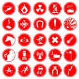 Σύνολο σημαδιών προειδοποίησης και κινδύνου Στοκ Εικόνα