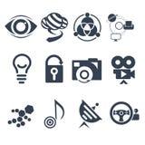 Σύνολο σημαδιών τεχνολογίας Στοκ Εικόνα