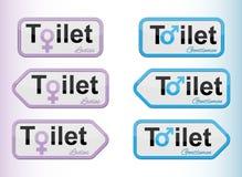 Σύνολο σημαδιών τουαλετών Στοκ Φωτογραφίες