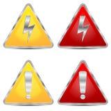 Σύνολο σημαδιών του κινδύνου απεικόνιση αποθεμάτων