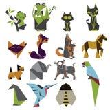 Σύνολο σημαδιών Origami Στοκ φωτογραφία με δικαίωμα ελεύθερης χρήσης