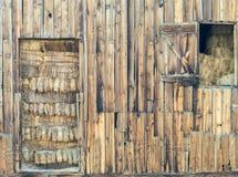 Σύνολο σιταποθηκών του σανού Στοκ φωτογραφία με δικαίωμα ελεύθερης χρήσης