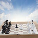 Σύνολο σκακιού έτοιμο να παίξει Στοκ εικόνες με δικαίωμα ελεύθερης χρήσης