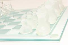 Σύνολο σκακιού γυαλιού Στοκ εικόνες με δικαίωμα ελεύθερης χρήσης