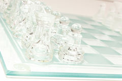 Σύνολο σκακιού γυαλιού Στοκ φωτογραφία με δικαίωμα ελεύθερης χρήσης