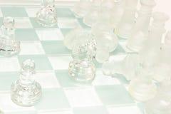 Σύνολο σκακιού γυαλιού Στοκ Εικόνα