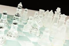 Σύνολο σκακιού γυαλιού Στοκ Φωτογραφίες