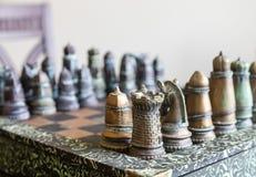 Σύνολο σκακιού μετάλλων Στοκ φωτογραφία με δικαίωμα ελεύθερης χρήσης